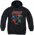 Justice League of America youth teen hoodie Pixel League black