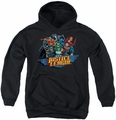 Justice League of America youth teen hoodie Ready To Fight black