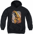 Justice League of America youth teen hoodie Reversed black