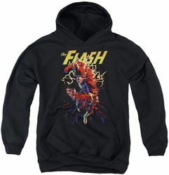 Justice League of America youth teen hoodie Ripping Apart black