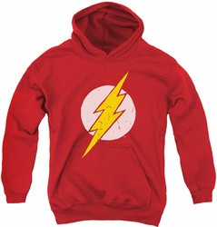 Justice League of America youth teen hoodie Rough Flash red