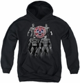 Justice League of America youth teen hoodie Shades Of Gray black