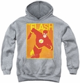 Justice League of America youth teen hoodie Simple Flash Poster athletic heather