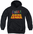 Justice League of America youth teen hoodie Standing Above black