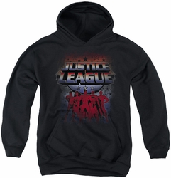 Justice League of America youth teen hoodie Star League black