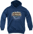 Justice League of America youth teen hoodie Storm Logo navy