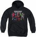 Justice League of America youth teen hoodie The Big Five black