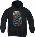 Justice League of America youth teen hoodie The Four black