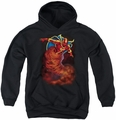 Justice League of America youth teen hoodie Tornado Cloud black