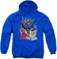 Justice League of America youth teen hoodie Unlimited royal blue