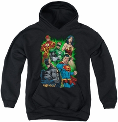 Justice League of America youth teen hoodie Will Power black