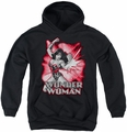 Justice League of America youth teen hoodie Wonder Woman Red & Gray black