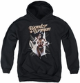 Justice League of America youth teen hoodie Ww Break Out black