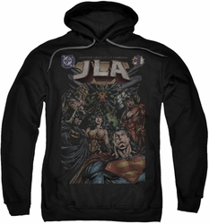 Justice League pull-over hoodie #1 Cover adult black