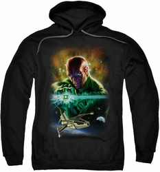 Justice League pull-over hoodie Abin Sur adult black