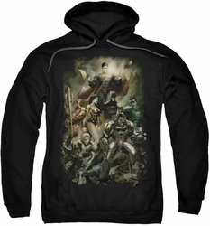 Justice League pull-over hoodie Aftermath adult black