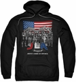 Justice League pull-over hoodie All American League adult black