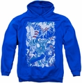 Justice League pull-over hoodie American Justice adult royal blue