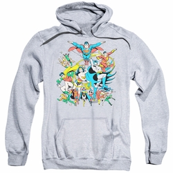 Justice League pull-over hoodie Assemble adult athletic heather