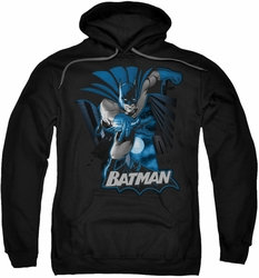 Justice League pull-over hoodie Batman Blue & Gray adult black