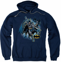 Justice League pull-over hoodie Batman Collage adult navy