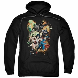 Justice League pull-over hoodie Battle Ready adult black