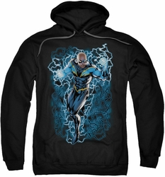 Justice League pull-over hoodie Black Lightning Bolts adult black