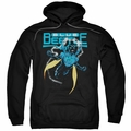 Justice League pull-over hoodie Blue Beetle adult Black