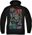 Justice League pull-over hoodie Boxes adult black