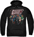 Justice League pull-over hoodie Charging Justice adult black