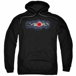 Justice League pull-over hoodie Cyborg Title adult Black