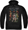 Justice League pull-over hoodie Dark Days adult black