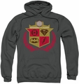 Justice League pull-over hoodie Defenders adult charcoal
