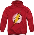 Flash pull-over hoodie Destroyed Logo adult red