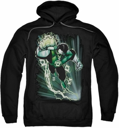 Green Lantern pull-over hoodie Emerald Energy adult black