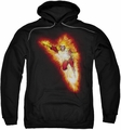Justice League pull-over hoodie Firestorm Blaze adult black