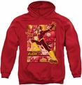 Flash pull-over hoodie Stepping Out Panels adult red