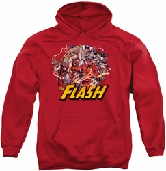 Flash pull-over hoodie Family adult red