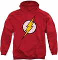Flash pull-over hoodie Logo adult red