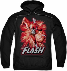 Justice League pull-over hoodie Flash Red & Gray adult black