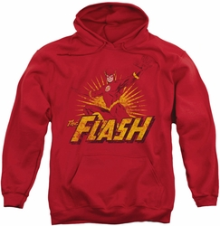 Flash pull-over hoodie Rough Distress adult red