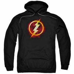 Justice League pull-over hoodie Flash Title adult Black