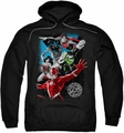 Justice League pull-over hoodie Galactic Attack adult black