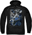 Justice League pull-over hoodie Galactic Attack Nebula adult black