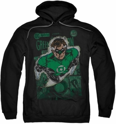Justice League pull-over hoodie Green Lantern #1 Distress adult black