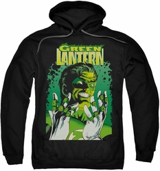 Justice League pull-over hoodie Green Lantern #49 Cover adult black