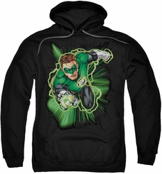 Justice League pull-over hoodie Green Lantern Energy adult black