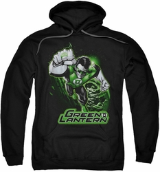 Justice League pull-over hoodie Green Lantern Green & Gray adult black