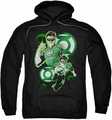 Justice League pull-over hoodie Green Lantern In Action adult black