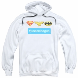 Justice League pull-over hoodie Hashtag JLA adult white